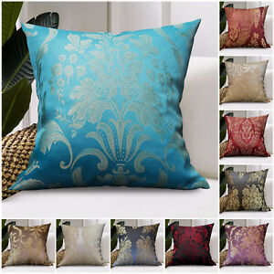 """Luxury Damask Cushion Covers OR Filled Cushions 18""""X18"""" Large Sofa Pillow Cases"""