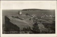 Perce Quebec Panorama Real Photo Postcard