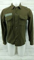 Small US Military Army Olive Green Cold Weather Field Shirt Wool Blend Jacket