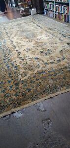 Rare 10x20 hand knotted kirmane  rug