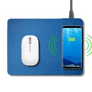 Tappetino per Mouse Caricabatteria IPHONE Samsung senza Fili Induzione Veloce