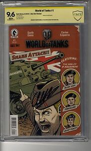 World of Tanks (2016) # 1 Convention Ed - CBCS 9.6 White Pages - SS Garth Ennis