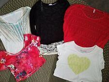 Womens Juniors Designer Clothing Lot L Large Tops Shirts Crop Crochet Kohls