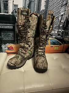 """RedHead Realtree Waterproof Insulated 17""""Hunting Snake Lace-Up Boots Mens Sz 14"""