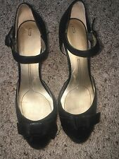 DKNY shoes, black, very gently used comfortable high heel women's shoes size 7.5