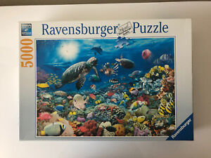 5000 Pieces Jigsaw Puzzle Ravensburger Underwater Tranquility Very Rare Puzzle