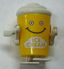 "Vintage 1980s Rare Hans White Knob Windup 2 1/4"" Ice Cream Cup-Works"
