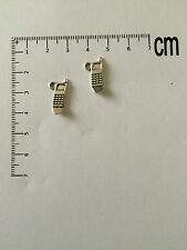 Mobile Phone Silver Tone Charms, Jewellery Making Charms , Bracelet Making