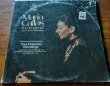 "MARIA CALLAS ""The Legend: Unreleased Recordings"" LP Insert Excellent in Shrink"