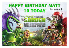 LARGE A5 GLOSSY PERSONALISED PLANTS V ZOMBIES BIRTHDAY CARD