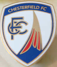 CHESTERFIELD FC Club crest type badge Brooch pin In gilt 21mm x 25mm