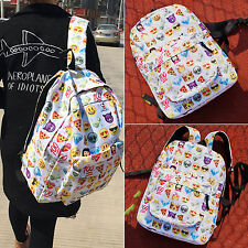 Girls Kids Funny Emoji School Work Backpack Rucksack Leisure Shoulder Book Bag