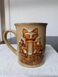 Pfaltzgraff Coffee Mug Cute Fox Design Stay Clever 16 Oz ceramic pottery cup