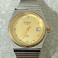 Women's Rado Silver With Gold Face Watch