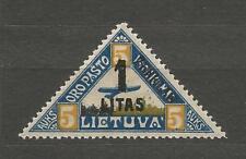 Lithuania Litauen 1922 MH Mi 186 Type III Sc 31 MH New currency Airmail Margin