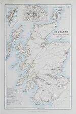1881 LA SCOZIA Mappa per illustrare il sistema militare del paese CASERMA