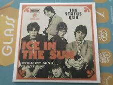 Limited Rare Single CD sleeve STATUS QUO Ice In The Sun WHEN MY MIND IS NOT LIVE