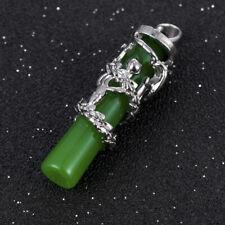 1PC Malay Jade Pendant Dragon Pillars Jade Green Chalcedony Jewelry Pendant