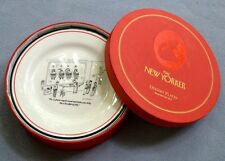 4 Dessert Appetizer Plates Santa Cartoons from New Yorker Restoration Hardware