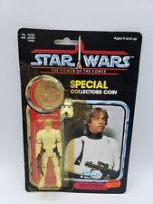 STAR WARS VINTAGE POTF 1984 LUKE STORMTROOPER MINT ON CARD 92 BACK LAST 17 RARE