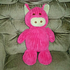 Circo Hot Pink PIG Ribbed Soft 16in Plush Tan Snout Inner Ears Foot Pads 2011