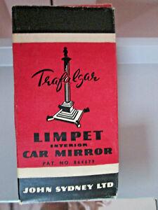Vintage Trafalgar Rear View Limpet Interior Car mirror -not used-original box