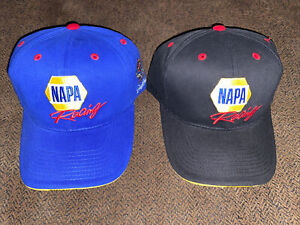 NEW Dale Earnhardt Inc NAPA Racing OSFA Blue And Black Strapback Hats NASCAR