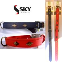 COLLARE PER CANE MEDIA-GRANDE TAGLIA FASHION CON BORCHIE REGOLABILE 50CM skysrl