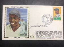 James Cool Papa Bell Signed First Day Cover Cachet. JSA