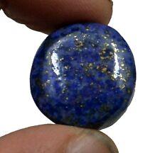 36.24 CT NATURAL BLUE LAPIS LAZULI GOLD FLAKES ROUND CABOCHON LOOSE GEMSTONE