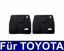 2x Schlüssel Tastenfeld Tastengummi für TOYOTA Corolla Avensis Aygo RAV4 Lexus
