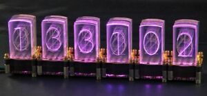 LED-Nixie -S 6-stelliger Bausatz inkl. Controller LED-Uhr Steuerung Nixie Design