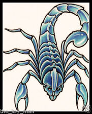 BLUE SCORPION INSECT~CREEPY HALLOWEEN COSTUME~TEMPORARY TATTOO BY LIQUID SKIN