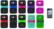 LCD Guard + Hybrid Case Phone Cover for Alcatel Onetouch Pixi PULSAR LTE A460G