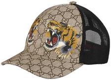 "NEW GUCCI GG SUPREME CANVAS ""TIGERS"" PRINT BASEBALL HAT CAP UNISEX 57/SMALL"