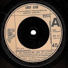 ANDY GIBB An Everlasting Love Vinyl Record 7 Inch RSO 015 1978 EX