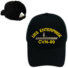 MILITARY BASEBALL CAP HAT USS ENTERPRISE CVN-80