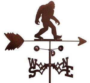 Hand Made Bigfoot Sasquatch Yeti Weathervane NEW