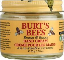 BURT'S BEES ~ BEESWAX & BANANA HAND CREAM Creme with SWEET ALMOND OIL 55g BURTS