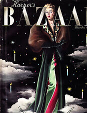 HARPERS BAZAAR December 1939 CASSANDRE Christmas Resort Princess Natalie Paley
