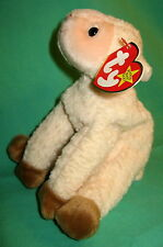 TY Beanie Baby Ewey the Cream Lamb Sheep MWMT Birthday 3 March 1 1998 Retired