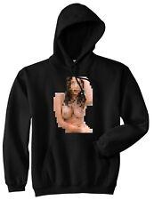 Kings Of NY Pixel Girl Naked Printed Graphic Pullover Hooded Sweatshirt Hoody