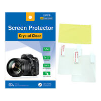 2x Crystal Clear LCD Screen Protector Film for Panasonic Lumix DMC GH4 GH3 GX8