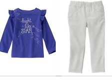 GYMBOREE Girls Two Piece Pants Outfit Lavender Bunny Collection NWT   18-24 mths