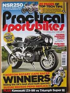 Practical Sportsbikes August 2016 Norton Cafe Racer Suzuki RGV500 ZX-9R NSR250