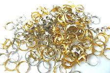 "25 OPEN RING Rim Studs 1/2"" For Jewel Set Rhinestone Setting 12mm GOLDTONE"