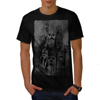 Wellcoda Ghost Apocalypse Zombie Mens T-shirt, Scary Graphic Design Printed Tee