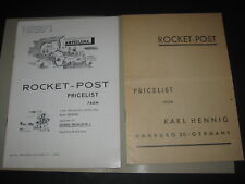 Karl Hennig: Rocket-Post Pricelist, 2 Hefte