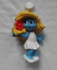"2"" Smurfs Smurfette 2011 Peyo Wedding Dress Flower RARE"