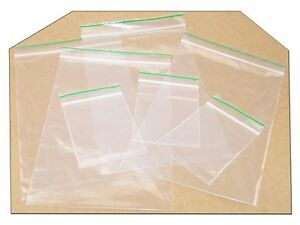 Plain Poly Plastic Grip Seal Bag Reusable Zip Lock Polythene Plastic Bag
